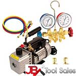 FJC 9281 Vacuum Pump Gauge Set Assortment marked