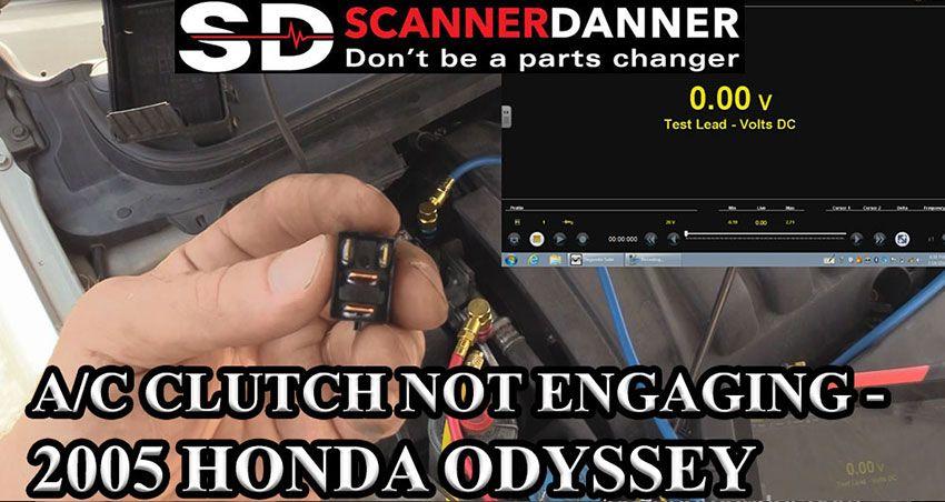 A/C clutch not engaging - 2005 Honda Odyssey - SCANNERDANNER