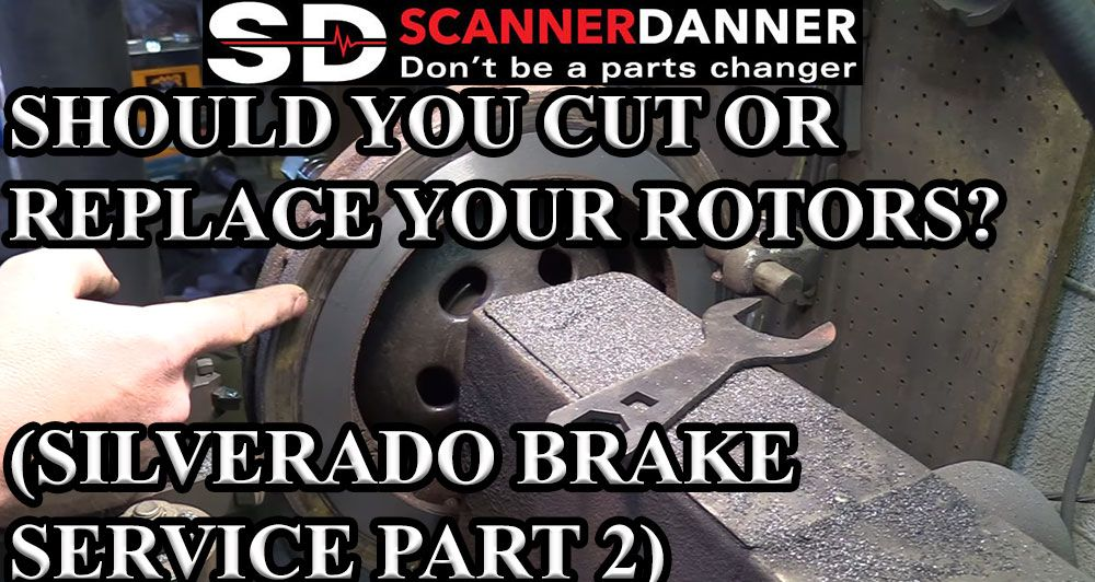 SHOULD YOU CUT OR REPLACE YOUR ROTORS SILVERADO BRAKE SERVICE PART 2