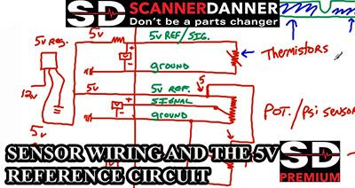 SENSOR WIRING AND THE 5V REFERENCE CIRCUIT