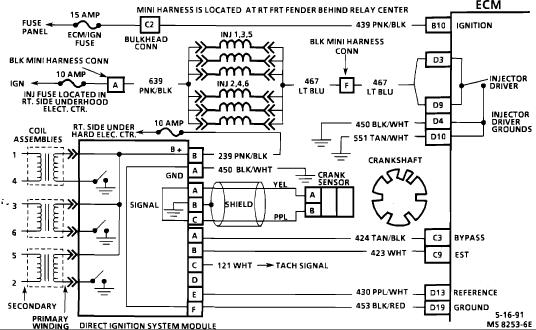 1993 3 1L Injector shorts or shorted ECM? - ScannerDanner