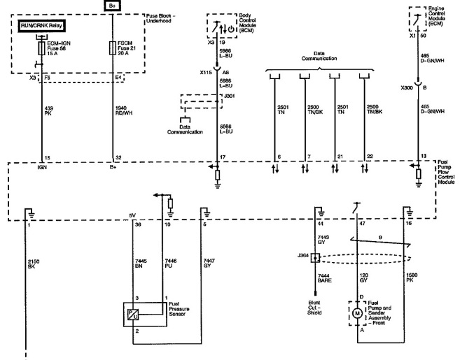 2009 Silverado Fuel Pump Wiring Diagram